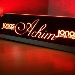 Acrylglas Namensschild (beleuchtet)