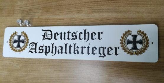 Deutscher Asphaltkrieger Schild