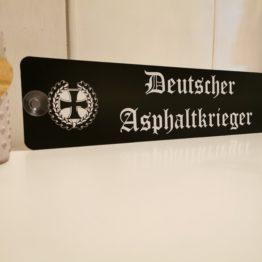 deutscher asphaltkrieger lkw namensschild