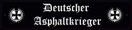 LKW Namensschilder Deutscher Asphaltkrieger