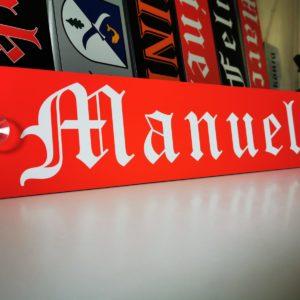 LKW Namensschilder - Manuel