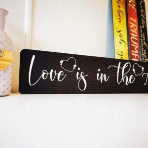 Kennzeichen für Hochzeitsauto - Love is in the Air