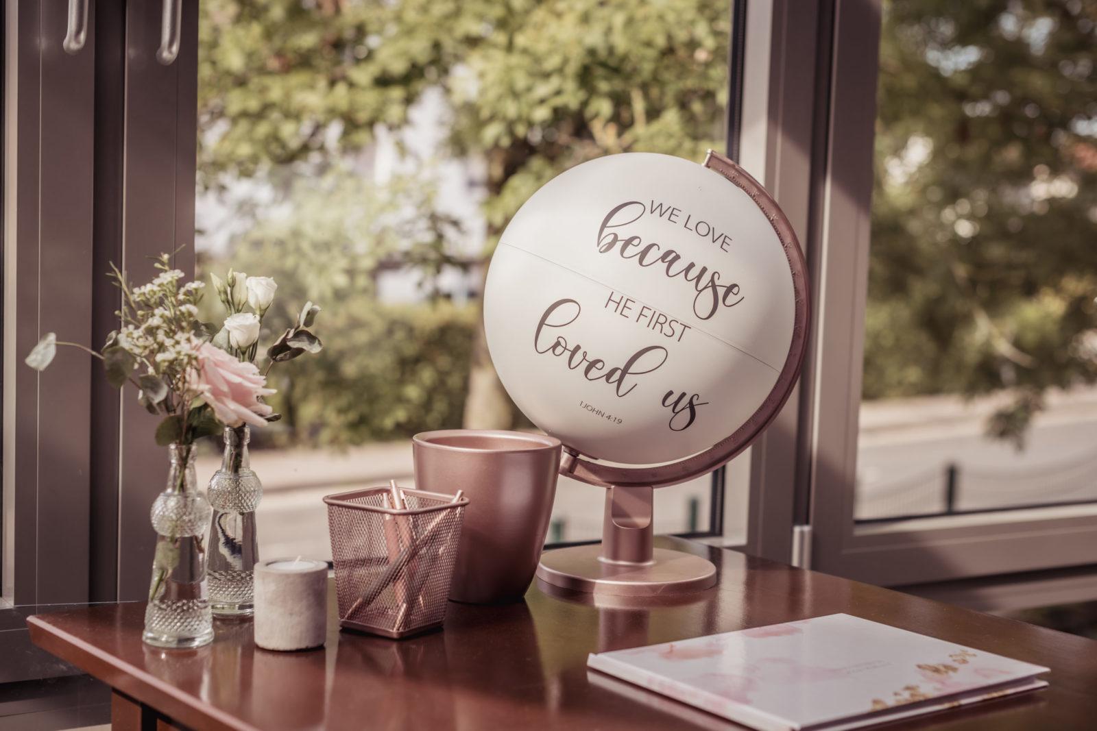 Deko für Hochzeit – Beschriftung