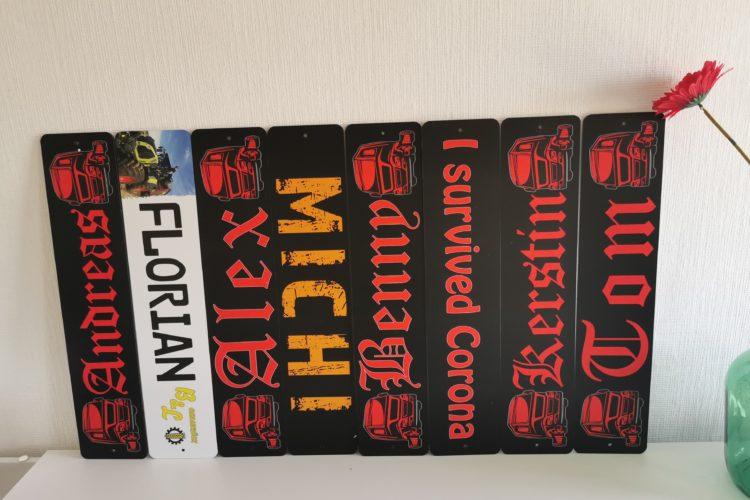 Namensschilder für deinen LKW